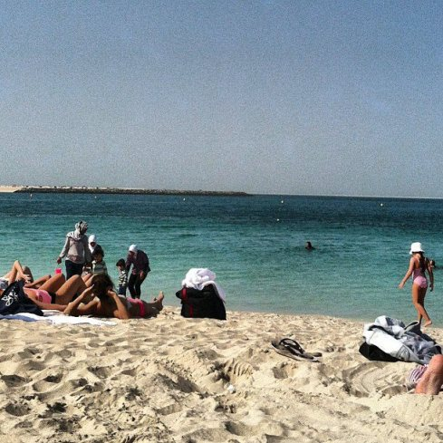 Jumeirah women's only beach.