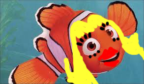 Photo edited by: Me! (obviously a real female cownfish does not look like this...)