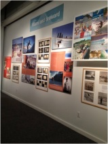 "This is just one of the walls featured in the ""Surfing Florida"" exhibit. Florida Museum of Natural history marketing intern, Laura Caicedo, said that the walls are divided by different sections of Florida and it tells you a story of each part. Photo by: Nicole Parra"