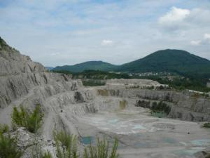 A quarry with Late Jurassic rocks representing a fossil coral reef in which many crustaceans were found in the Czech Republic. Photo by: Adiël Klompmaker, University of Florida